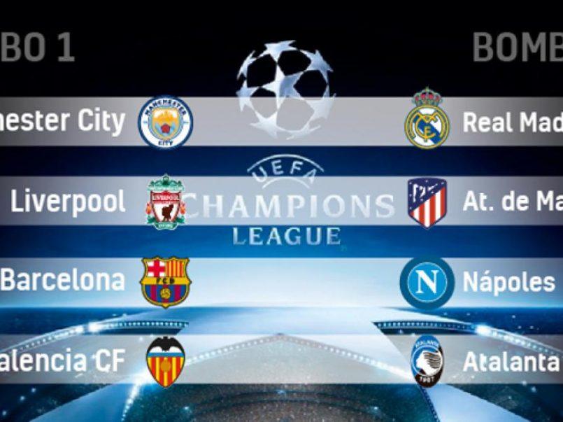 Resultados de octavos de final Champions League