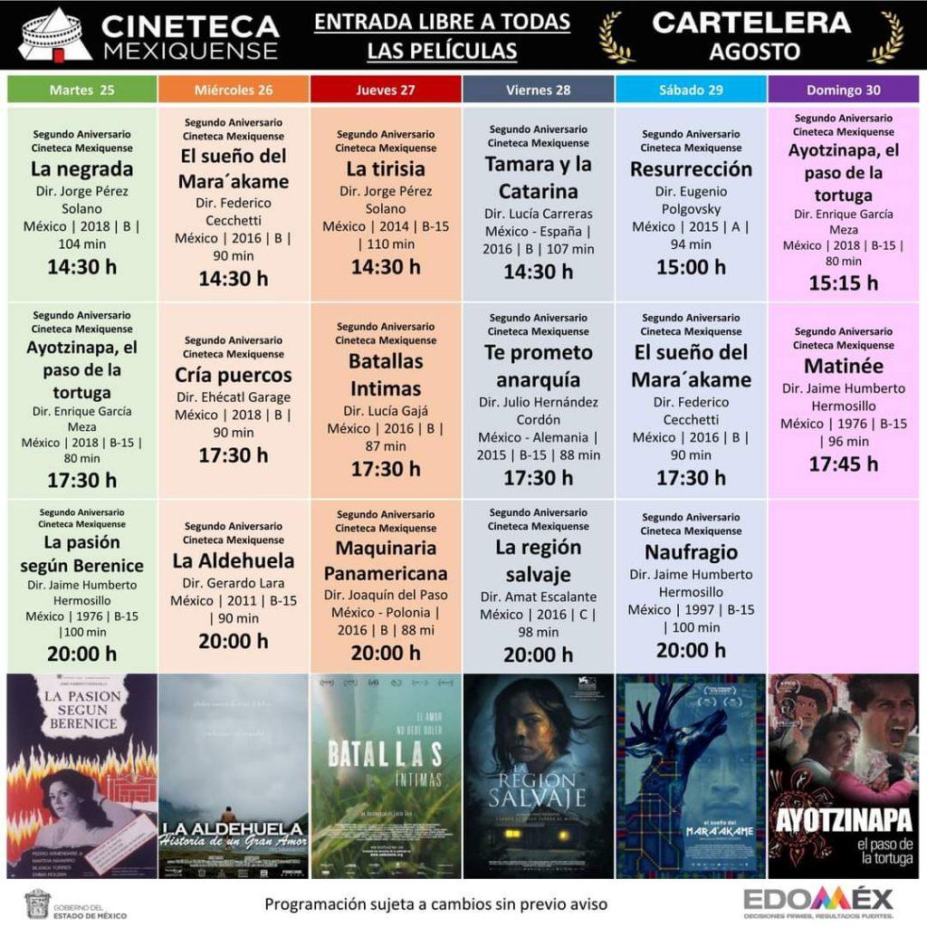 Cineteca Mexiquense abre sus puertas con funciones gratuitas