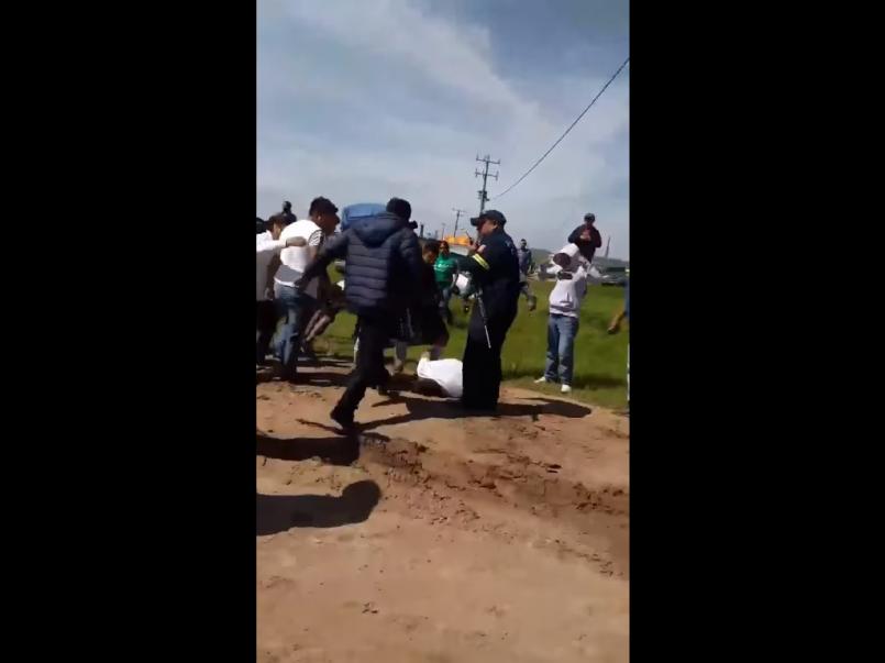 (Video) Intentan linchar a supuesto violador en Edomex