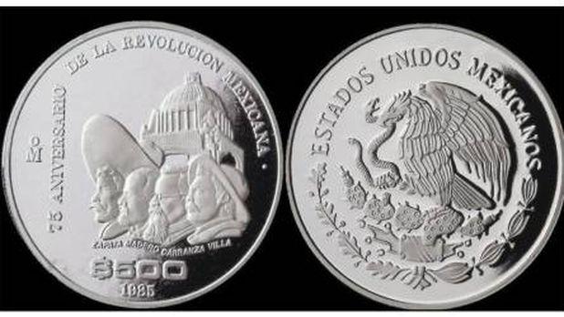 Moneda conmemorativa de la Revolución Mexicana se vende a más de 6 mil pesos