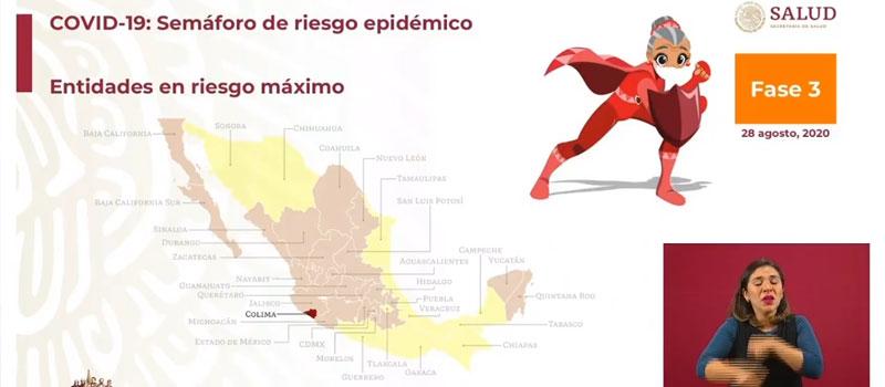 Actualización de color en semáforos sanitarios en México por estado