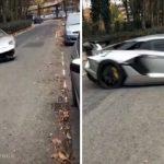 Lamborghini escapa de la policía con increíble maniobra VIDEO1