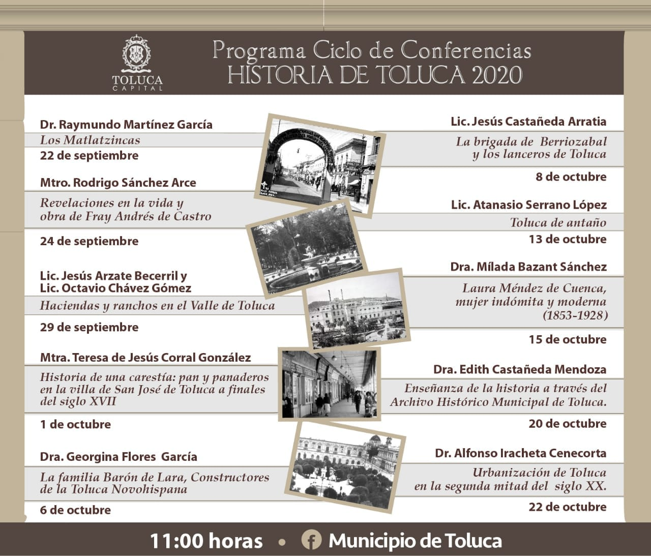 Ciclo de conferencias de la historia de Toluca