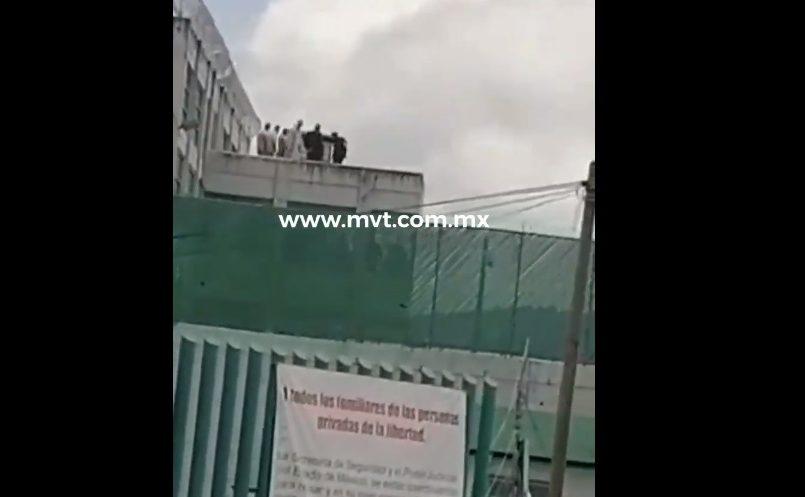 (Vídeo) Dos custodios del penal de Tenancingo fueron retenidos por presos