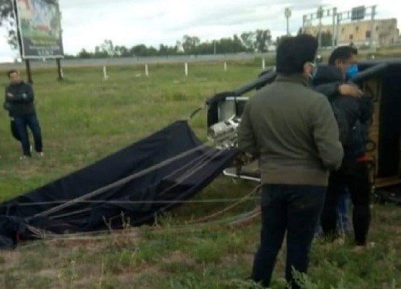 Globo aerostático despega en Teotihuacán y se estrella en Aculco