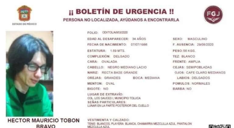 Joven desapareció mientras circulaba en colonia Los Sauces, Toluca