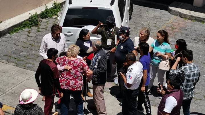 Pelea en el mercado de Metepec necesito intervención policiaca