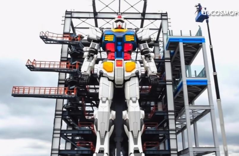 (Video) Realizan primeras pruebas del robot más grande del mundo en Japón
