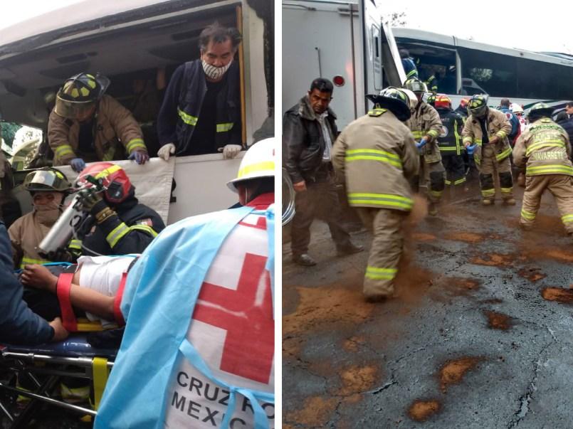 Accidente en la Toluca-Naucalpan deja varios heridos4