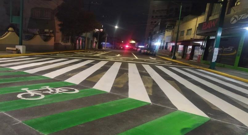 Avenida de Toluca es intervenida para beneficio de los ciclistas || FOTOGALERÍA