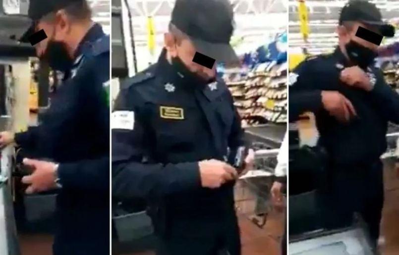 Captan-a-policia-robando-en-tienda-del-Edomex