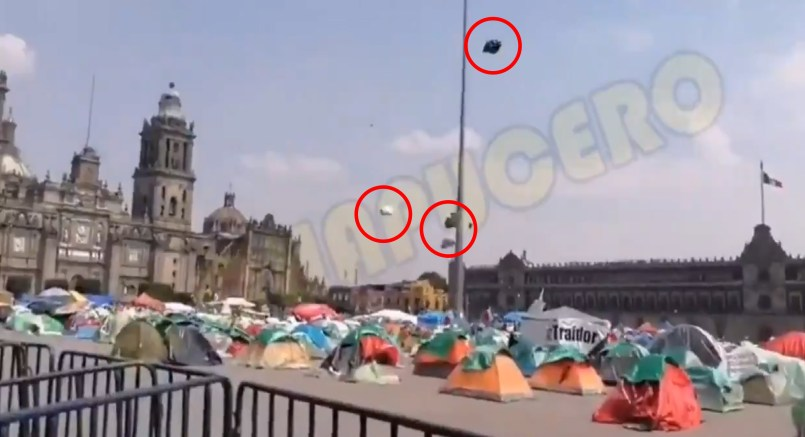 Casas de campaña del FRENA vuelven a ser objeto de burla || VIDEO