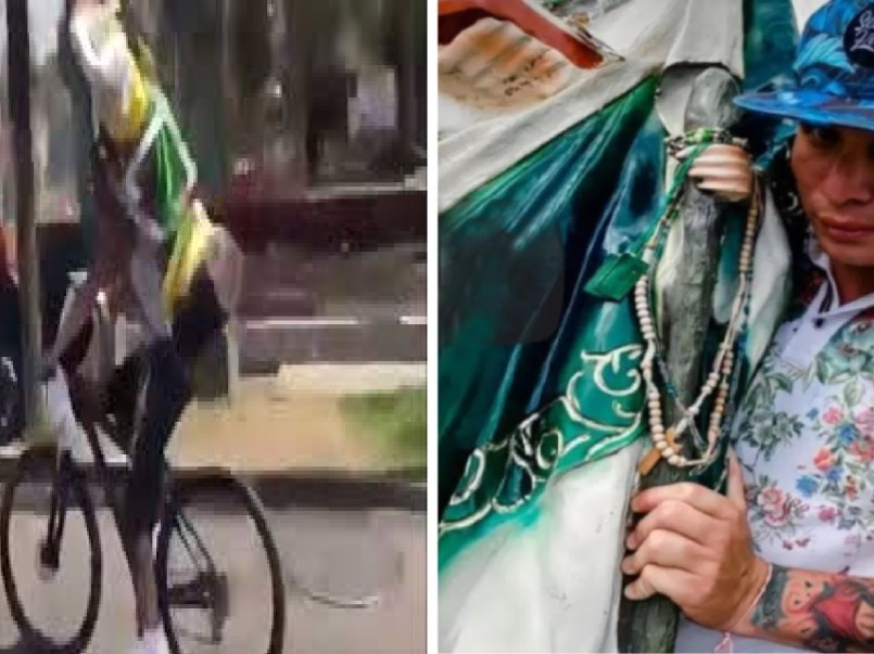 Conoce al ciclista que se estrelló con San Judas en la espalda    VIDEO