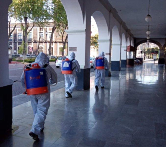 Continúan tareas de desinfección en las delegaciones de Toluca2