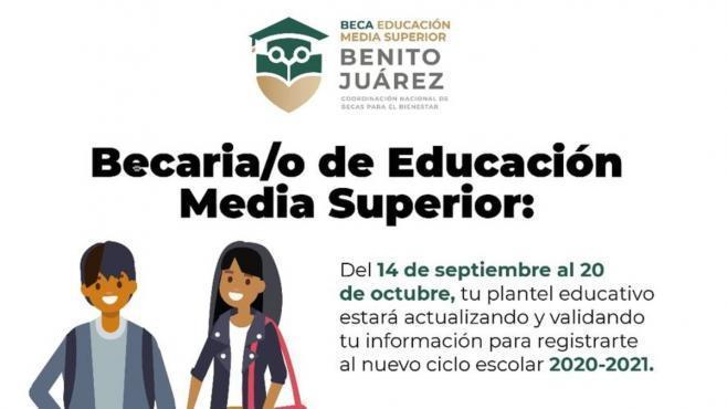 Paso a paso para solicitar la Beca Benito Juárez nivel medio superior EDOMEX