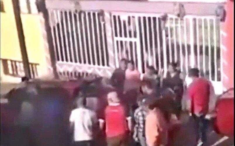 Presunto asaltante es golpeado en el EDOMEX