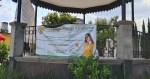Invaden con publicidad el quiosco de San Lorenzo Tepaltitlan