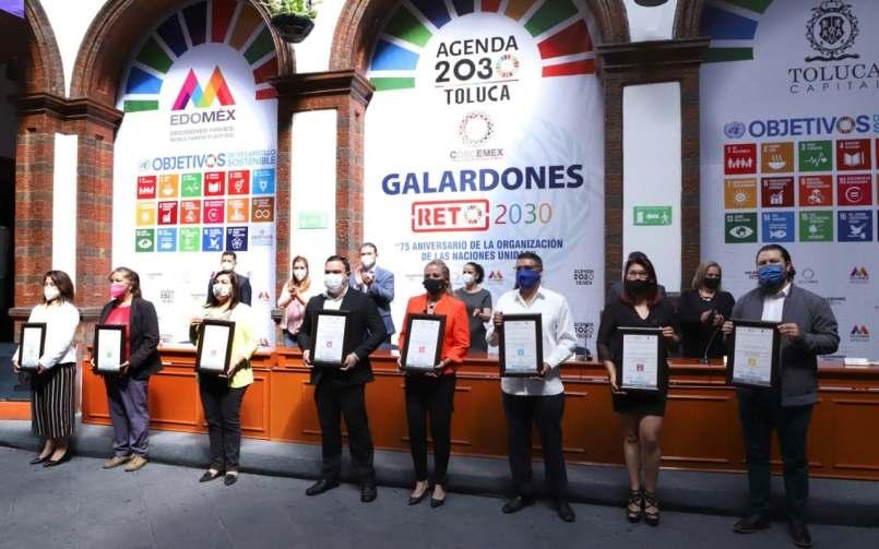 Toluca entrego galardones a los mejores proyectos de la Agenda 2030