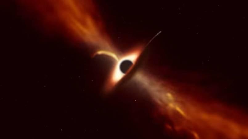 Un agujero negro devora una estrella y el momento quedó registrado