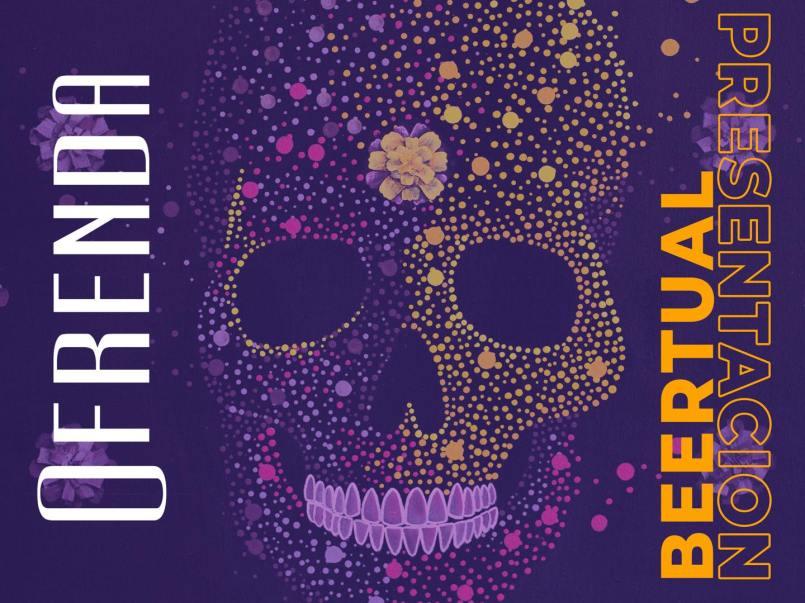Cerveza Ofrenda con sabor a calaverita de azúcar y calabaza, celebra el día de muertos
