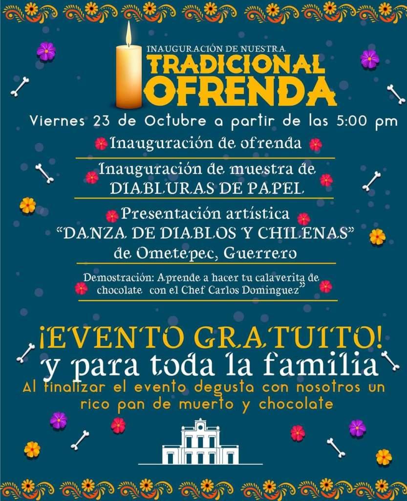 "Festival ""Mikistli"" en Centro Cultural de Toluca para celebrar día de muertos"