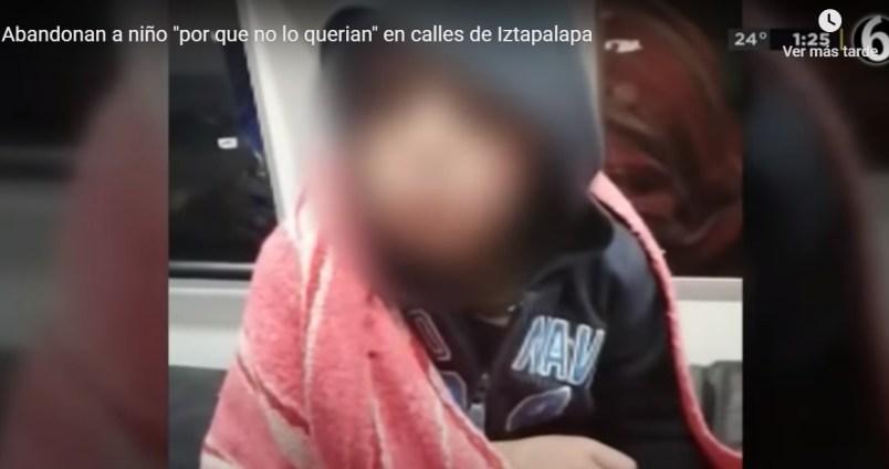 (Video) Niño de 8 años es abandonado en Iztapalapa por su padre y madrastra
