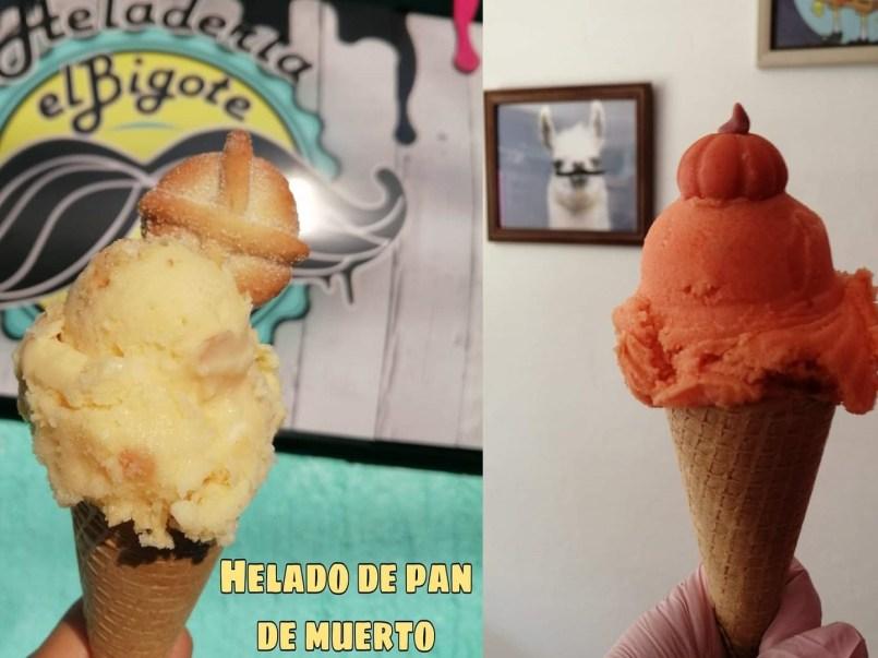 Regresa el helado de temporada de pan de muerto y calabaza a Toluca