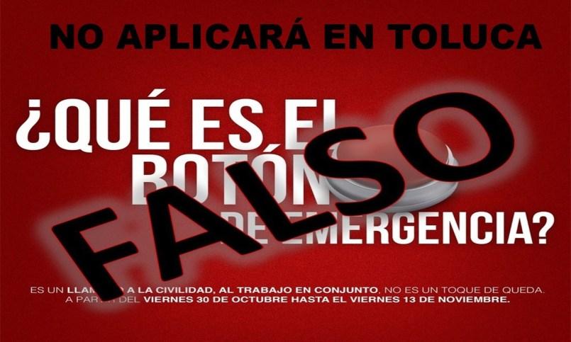 Boton Rojo no aplicará en Toluca