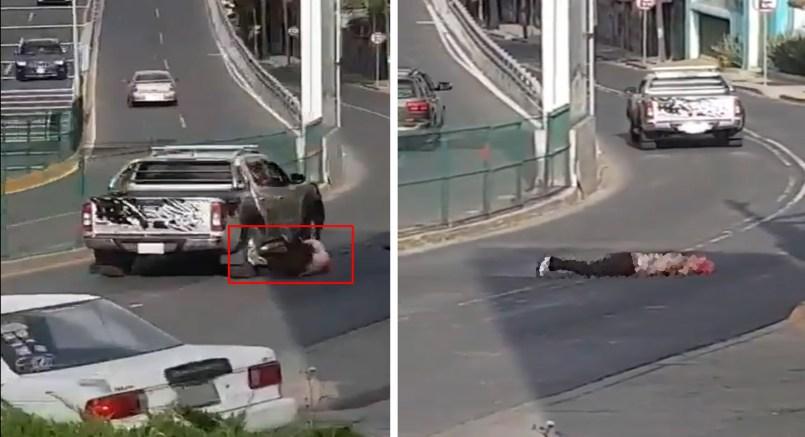 Mujer queda inconsciente tras ser atropellada por camioneta