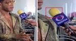 Por COVID-19, reportero protege su micrófono con un condón