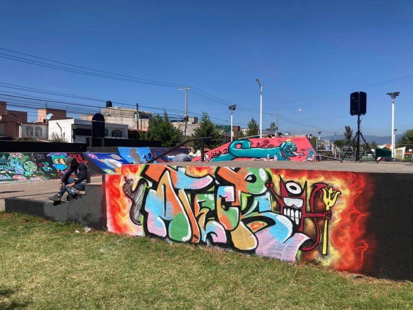 mexiquenses LLENAn DE COLOR EL PARQUE DE SAUCES PINCELADAS DE PAZ