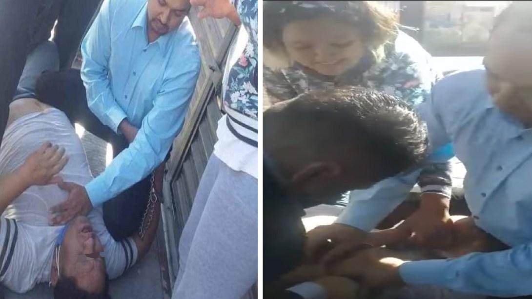 Tamalero pierde la vida tras ser sometido por policías