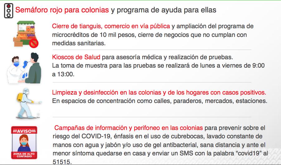 Lista de 20 nuevas colonias de la CDMX que pasan a semáforo rojo por Covid-19