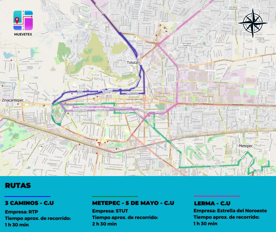 Muevetex la aplicación que ayudará a reducir el tiempo de viaje en el Valle de Toluca