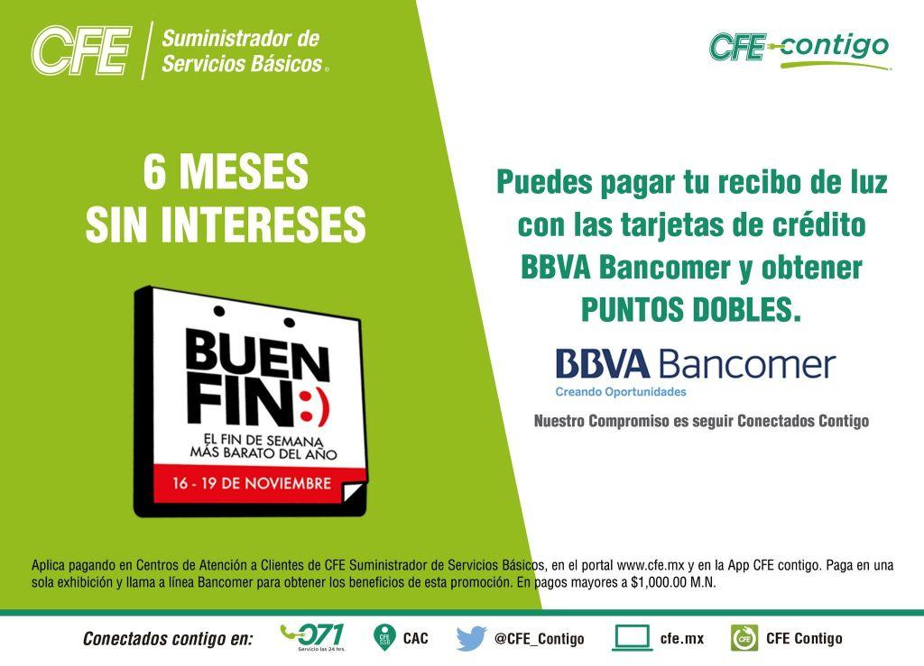 Buen Fin: Conoce los bancos participantes para pagar tu recibo de CFE a meses sin intereses