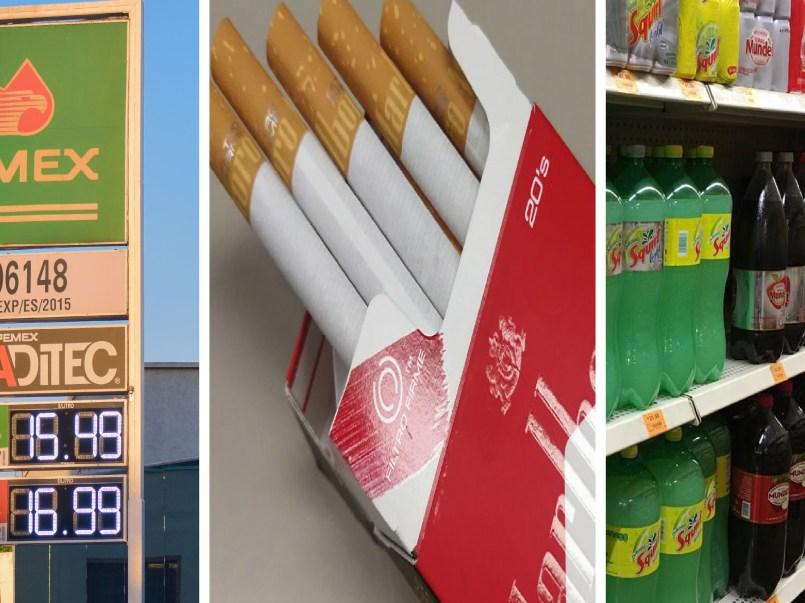 Cigarros, refrescos y gasolina subirán de precio para el 2021