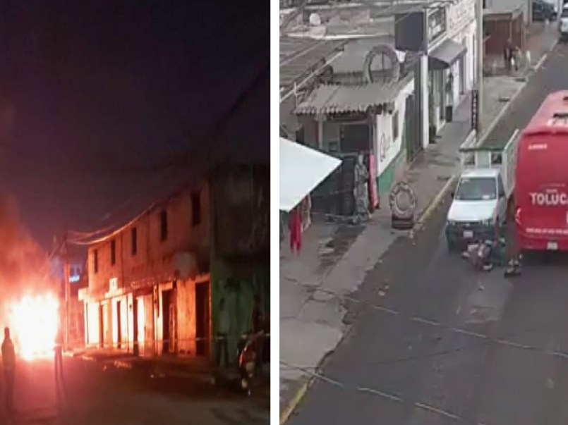 Habitantes de San Cristobal Huichochitlán incendian camión que atropello a un menor