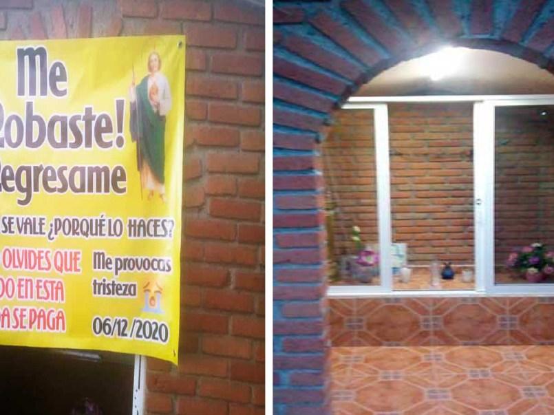 Imagen de San Judas es robada en Ixtlahuaca, solicitan que sea devuelta