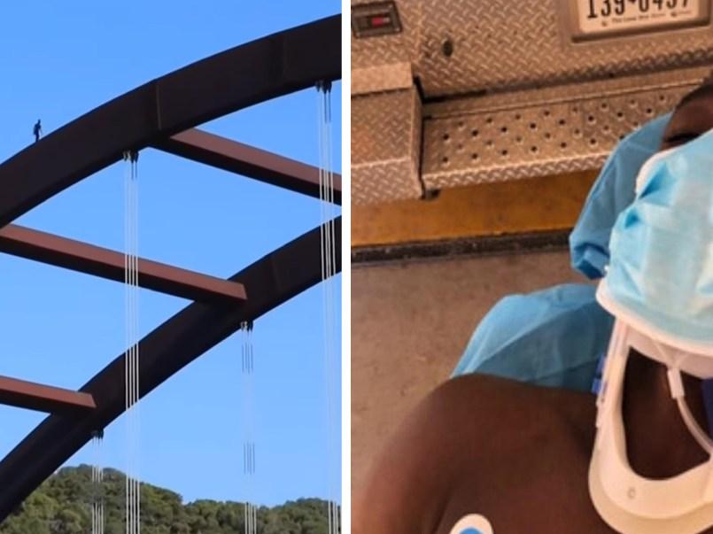 Influencer se lanza desde un puente y sufre fractura de cráneo