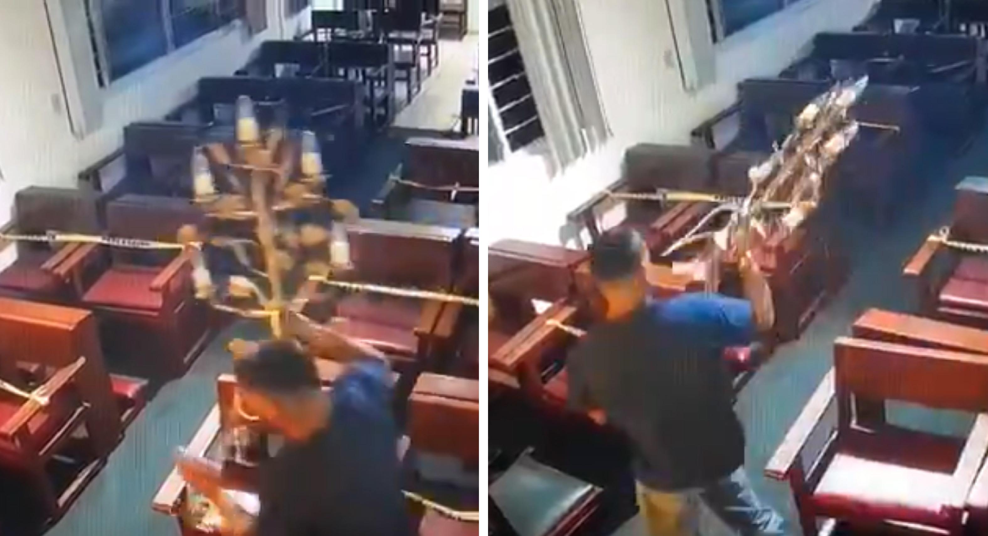 Ladrón se lleva las veladoras de una iglesia en Guadalajara