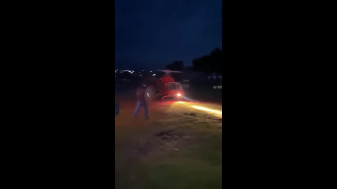 (Video) Empresario es golpeado por hélice de helicóptero