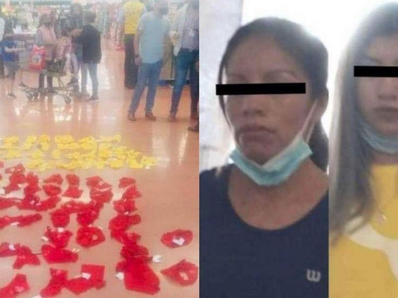 mujeres-intentan-robar-60-calzones-rojos-amarillos-walmart