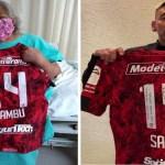 Abuelita hospitalizada recibe jersey autografiado de Rubens Sambueza