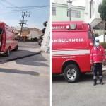 Bomberos y Protección Civil trasladan casos COVID-19 en Toluca