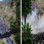 Caravana migrante es reprendida a golpes en Guatemala