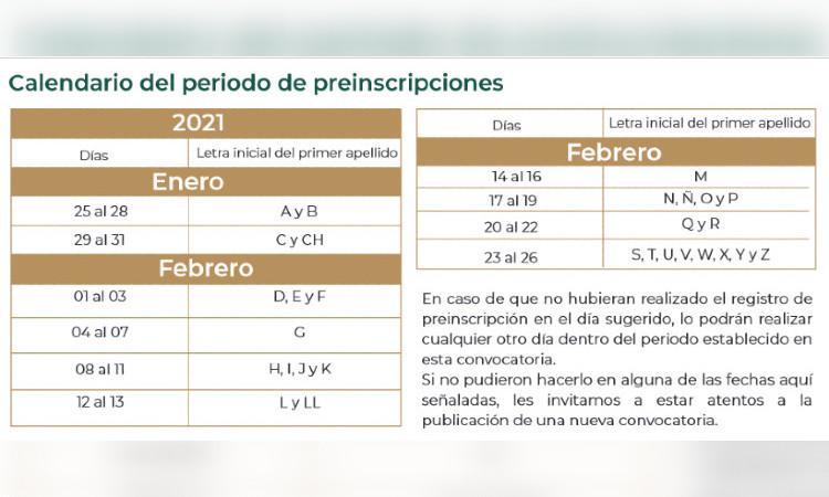 Consulta aquí calendario de preinscripciones 2021-2022-AEFCM