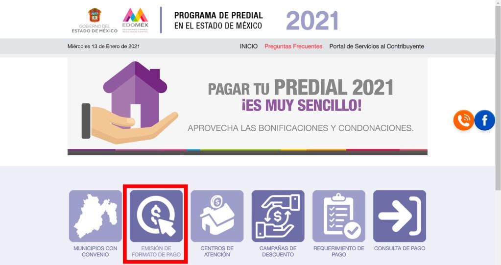 Paso a paso para realizar tu pago del impuesto predial EDOMEX 2021 en línea