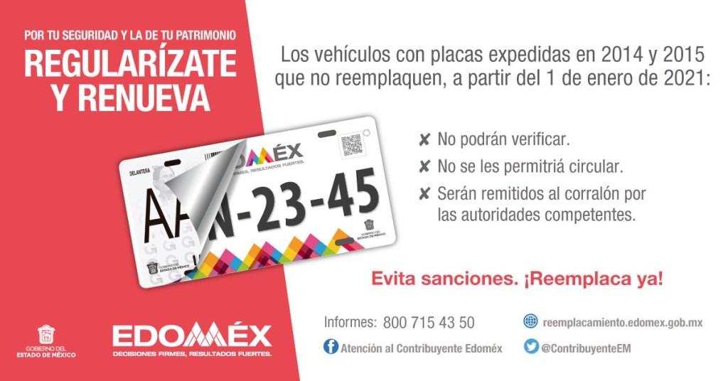 Reemplacamiento EDOMEX 2021 Requisitos y todo lo que debes de considerar en el trámite