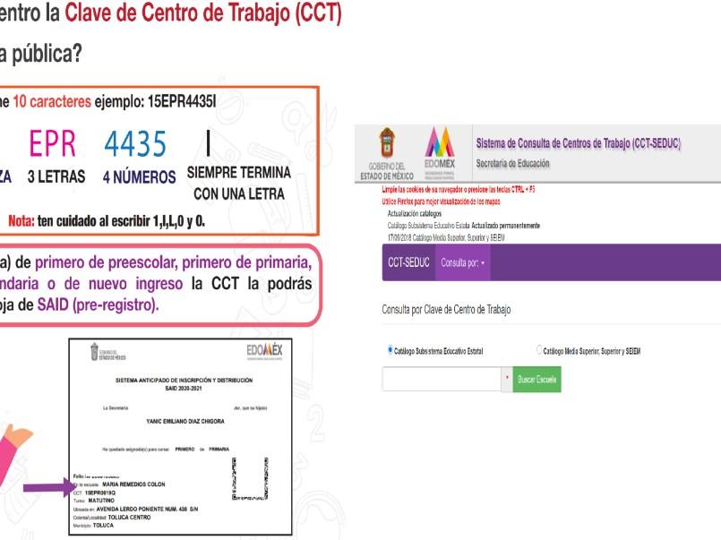 Consulta Clave de Centro de Trabajo (CCT) || Preescolar, primaria y secundaria EDOMEX 2021