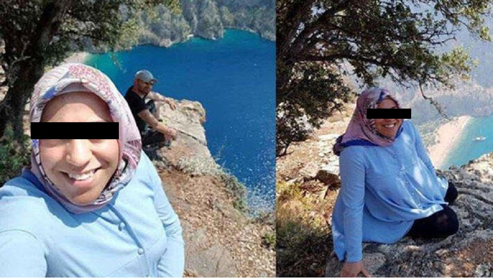 Mujer embarazada es empujada por un acantilado por su esposo después de tomarse fotos